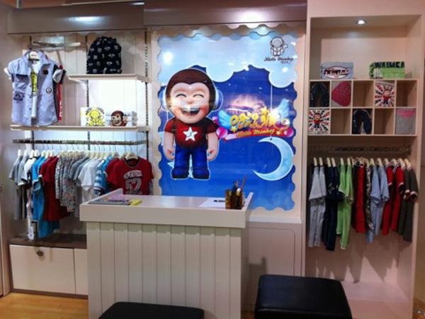 哈樂猴童裝店鋪展示