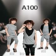 A100童装时尚搭配来袭 看孔雀绿服装的精彩搭配